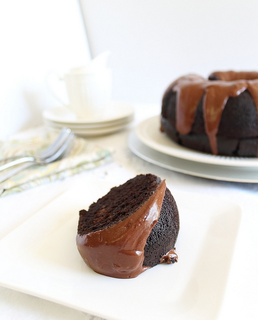 Chocolate and coffee bundt cake