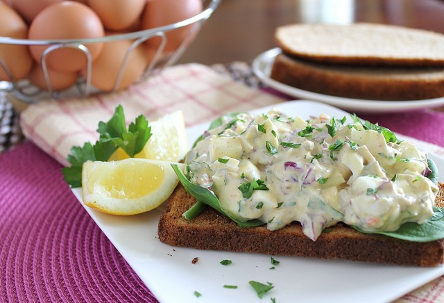 Creamy dijon egg salad