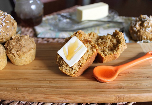 Sweet Potato Banana Muffins with Whole Wheat Flour
