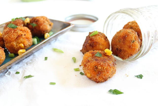 Sweet Potato Corn Cheddar Fritters