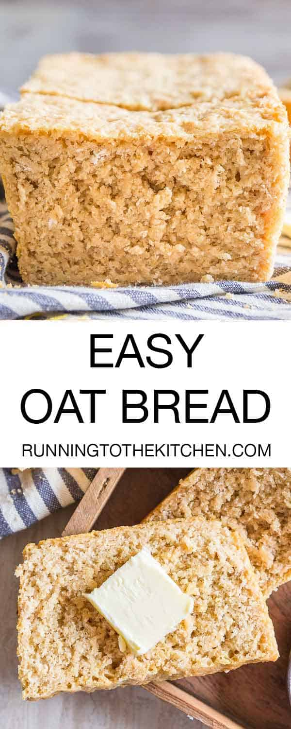 A simple blend of all-purpose, whole wheat and oats results in this easy homemade oat bread.