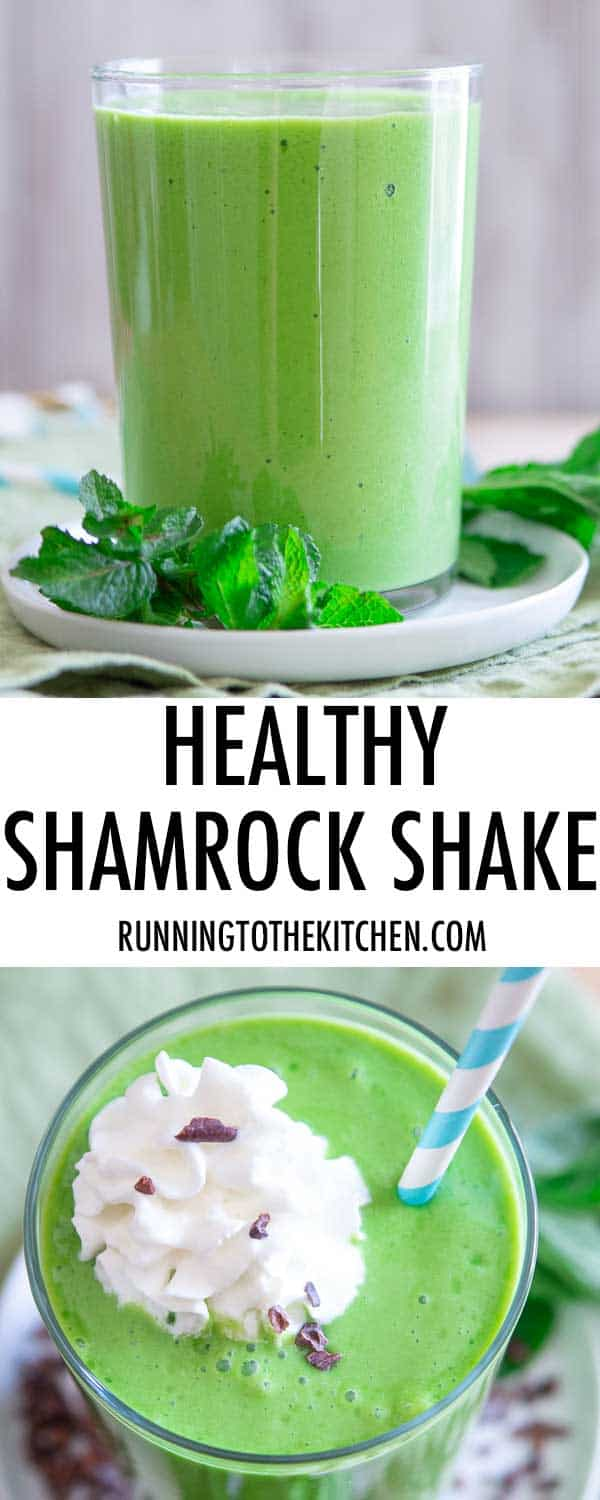 A healthy copycat version of McDonald's shamrock shake recipe.