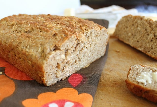 An easy recipe for homemade oat bread with just 7 ingredients you probably have on hand.