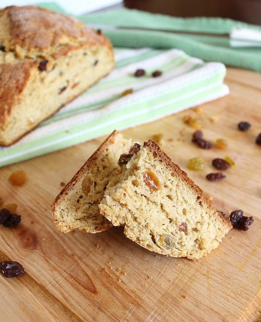 Try this sweet take on Irish soda bread with cinnamon and sugar.