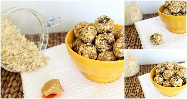 No bake peanut butter chocolate chip balls