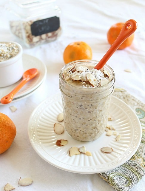 Orange overnight steel cut oats