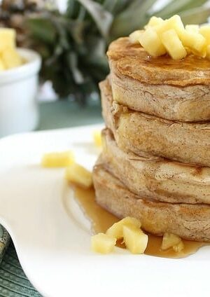 Pancake battered pineapple rings