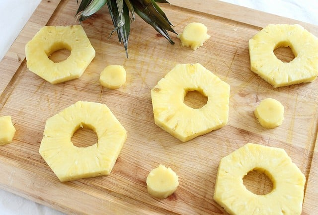 Pancake pineapple rings