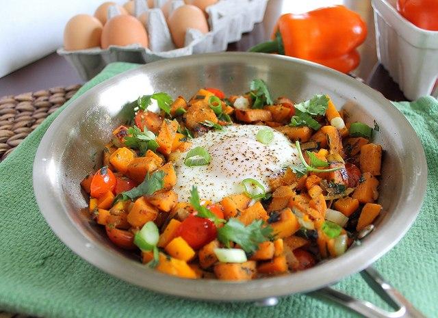 Quick sweet potato hash