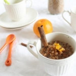 Creamy orange spiked wheatberry pudding