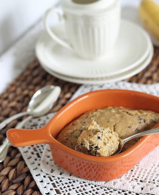 Banana chocolate breakfast bake