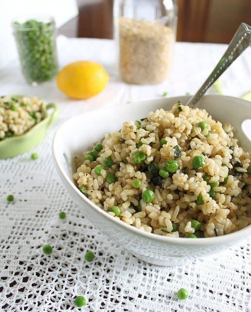 Basil brown rice