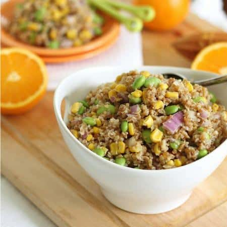 Bulgar Wheat Salad with Orange Dijon Dressing