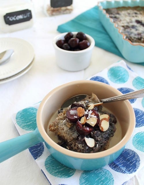 Cherry almond steel cut oats