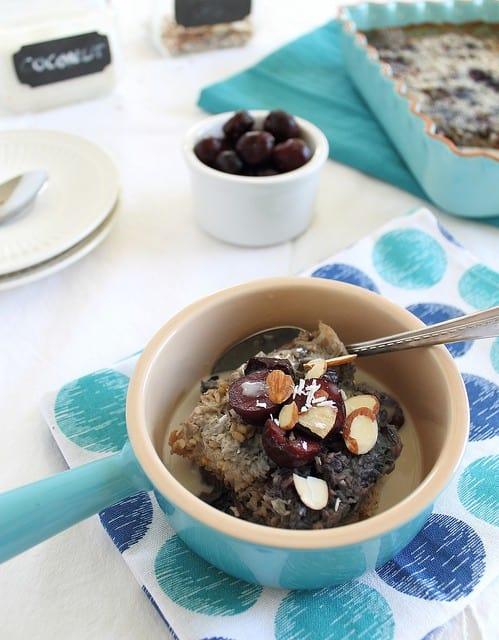 Cherry almond steel cut oats