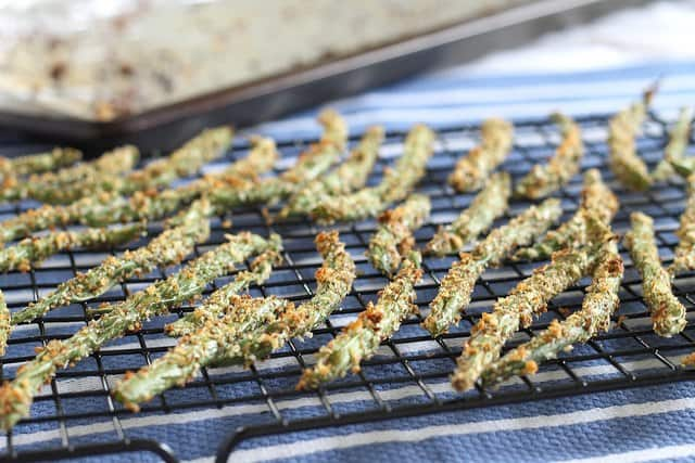 Crispy green bean fries are a healthy alternative to potatoes.