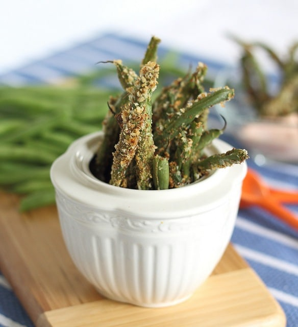 Try these baked green bean fries next time you're craving crispy French fries for a healthier alternative.