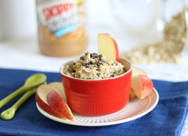 A healthy peanut butter cookie dough dip you won't feel bad about eating. It's vegan and gluten-free so everyone can enjoy some!