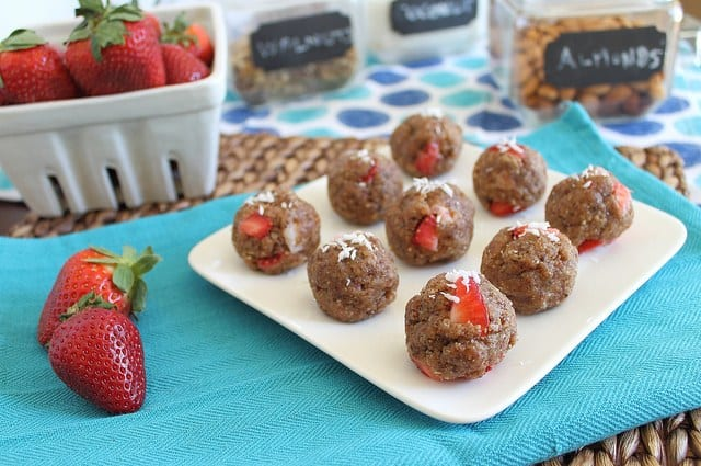 No bake strawberry vanilla cookies
