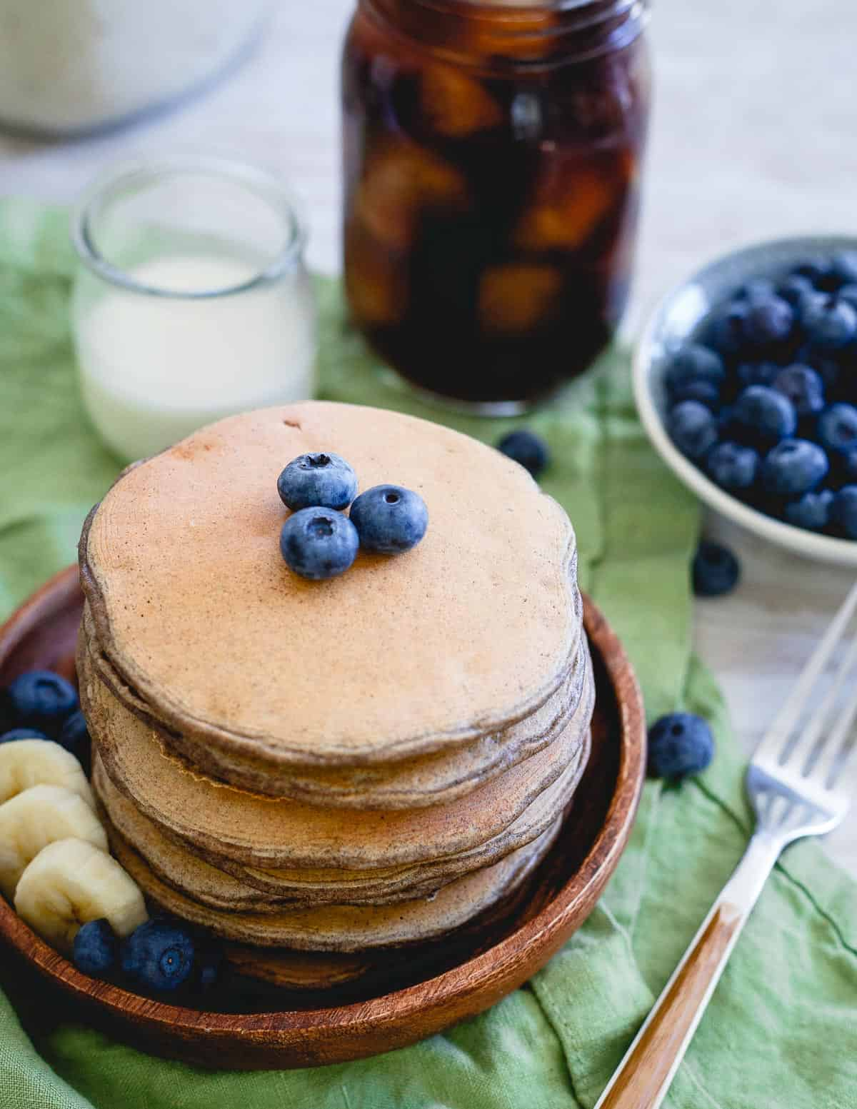 Packed with 30g of protein, these pancakes are the perfect stack to start your day.