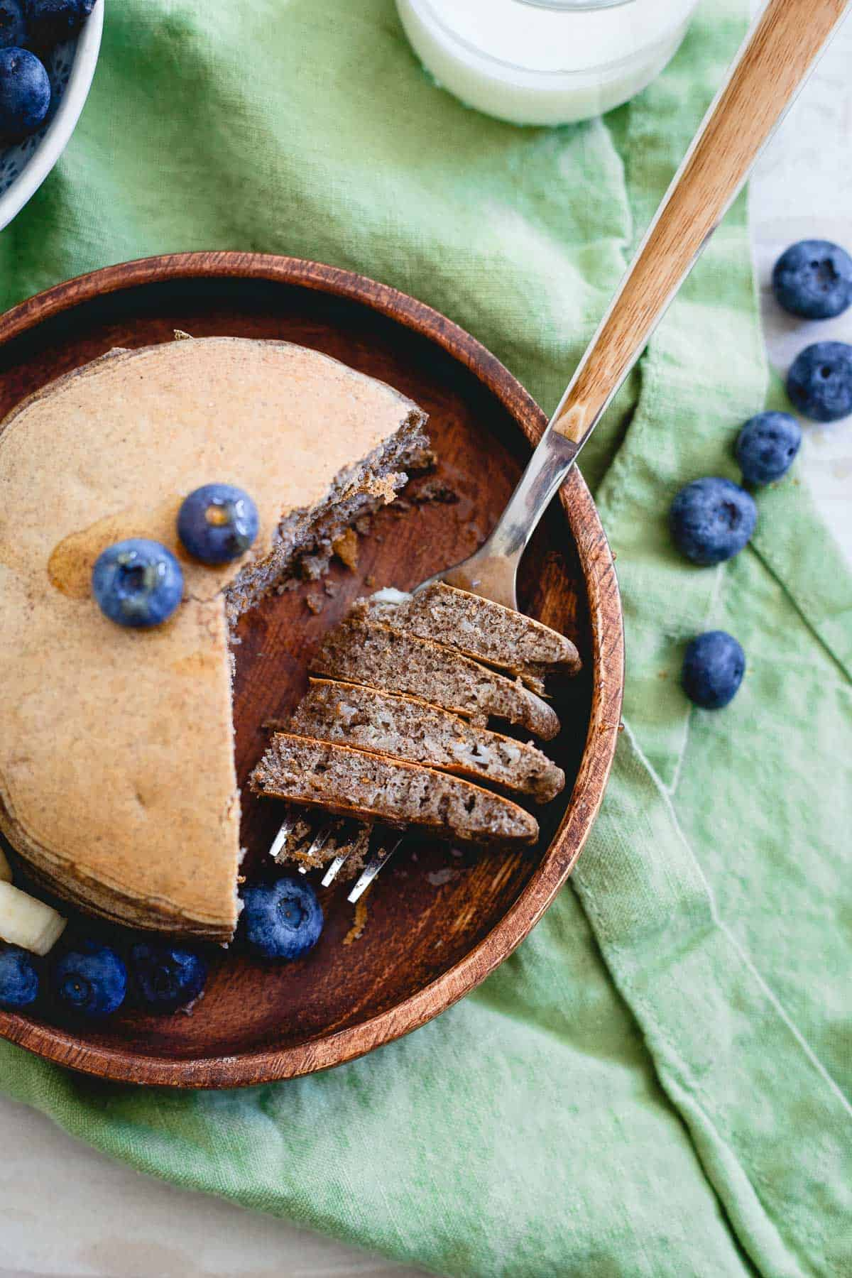 These perfect protein pancakes have a whopping 30g of protein in each serving!