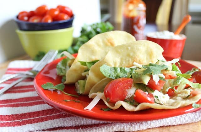 Pioneer Woman's Fried chicken tacos make a delicious family dinner or Taco Tuesday night!