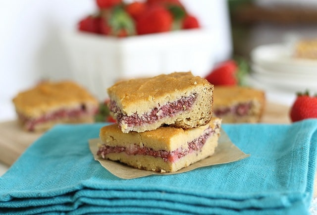 Strawberry chia bars