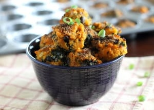 Sweet Potato Kale Bites