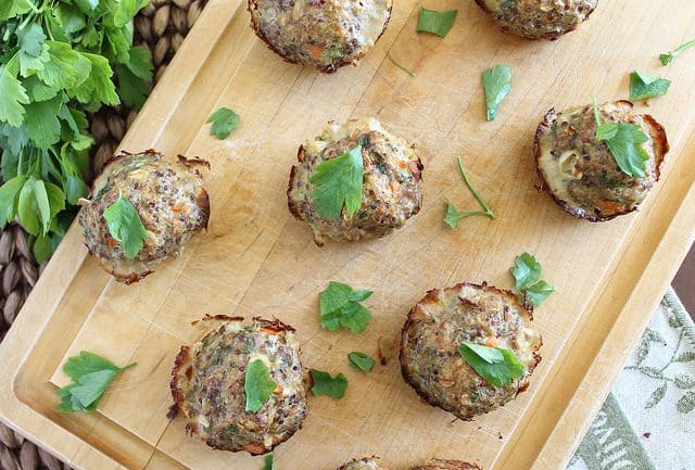 Turkey quinoa bites