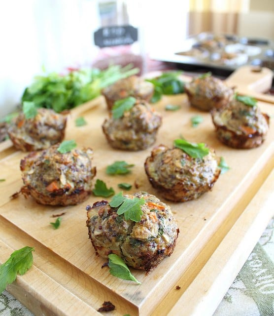 Turkey quinoa meatloaf muffins