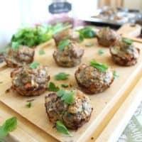 Turkey quinoa meatloaf muffins