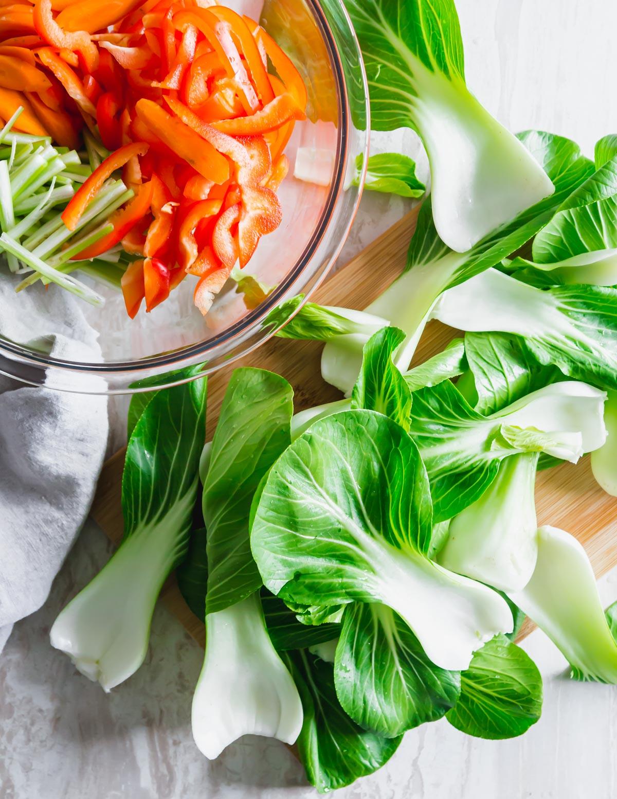 baby bok choy salad ingredients