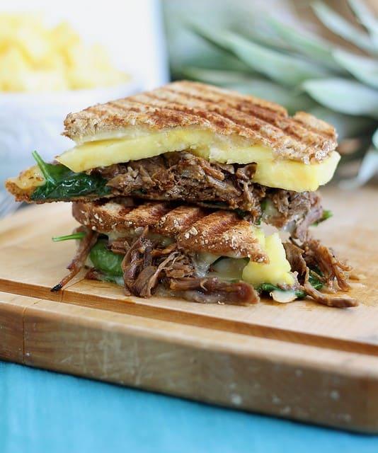 Beef carnitas pineapple panini