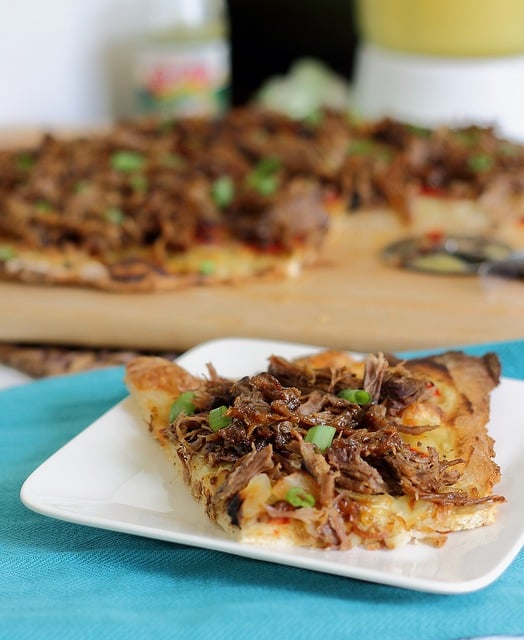 Beef carnitas pizza
