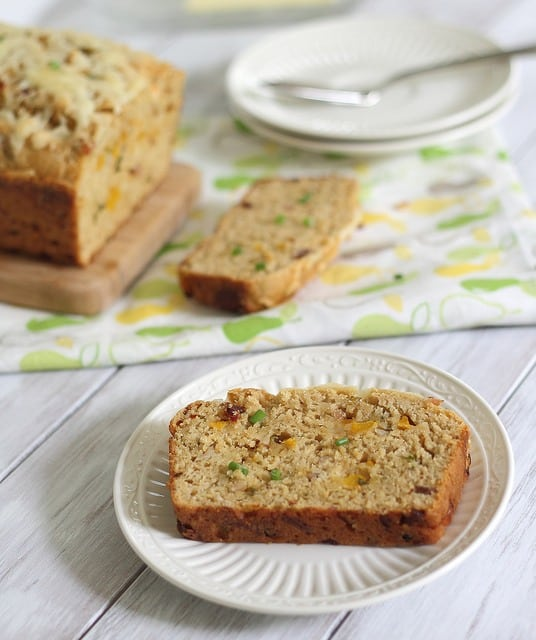 Beer bread with cheddar and bacon