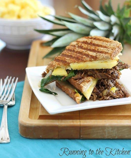 Carnitas pineapple panini