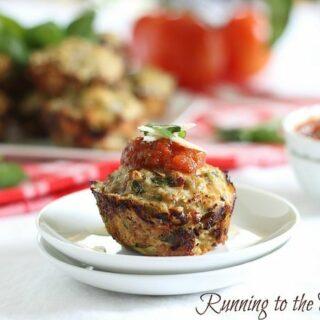 Chicken parmesan muffins
