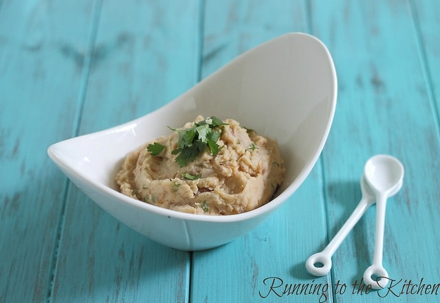 These homemade white refried beans are made at home without the soaking and long cook time. They taste just like the real thing and are ready in 5 minutes.