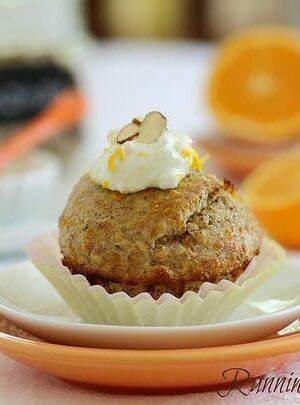 Orange almond muffin