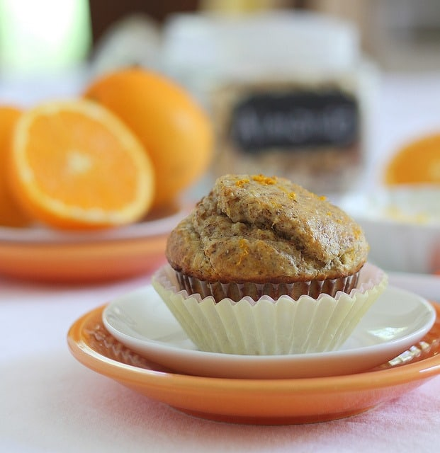 Orange almond muffin for one