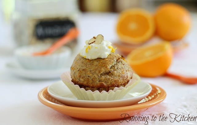 A single serve recipe for a heartier, protein-packed version of the classic orange blossom muffin.