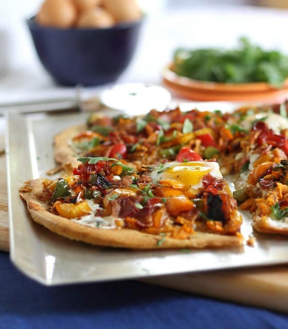 Pioneer Woman's breakfast pizza