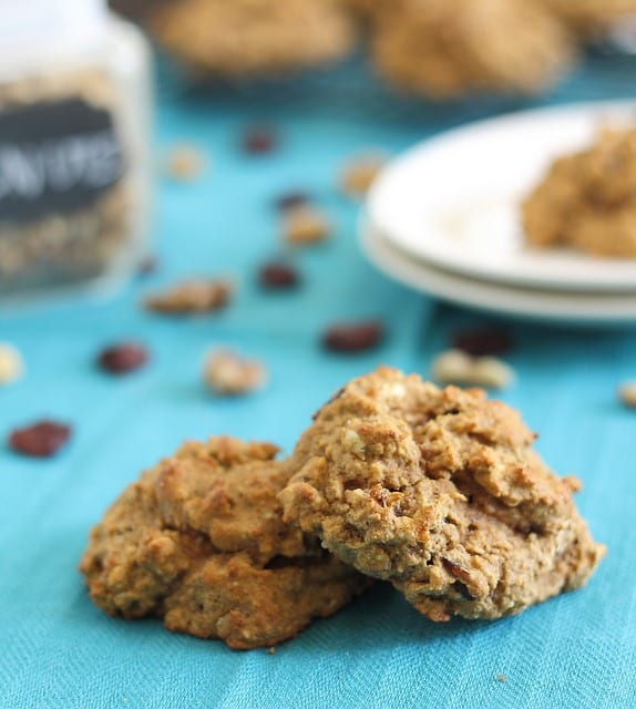 Protein cookies with almond and cherries