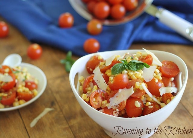 Simple summer corn and tomato salad