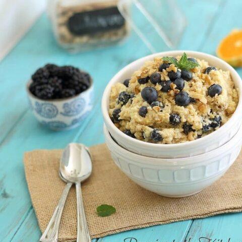 Berry breakfast grain salad