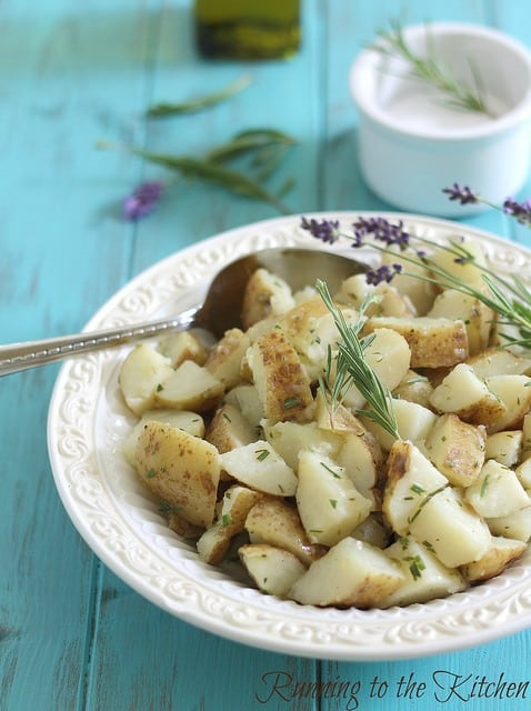 Lemon lavender potato salad