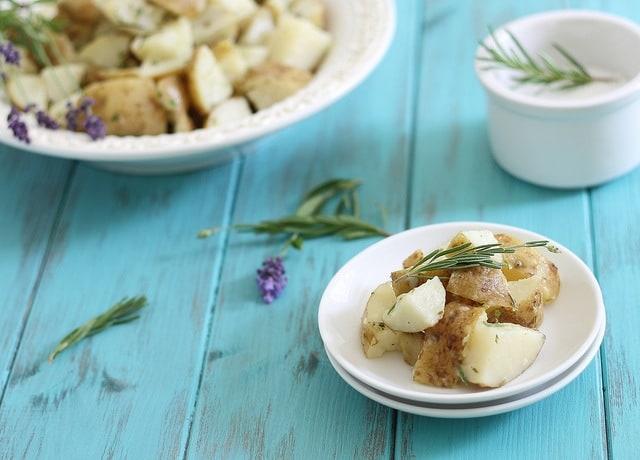 lavender potato salad
