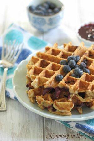 Oatmeal blueberry waffles