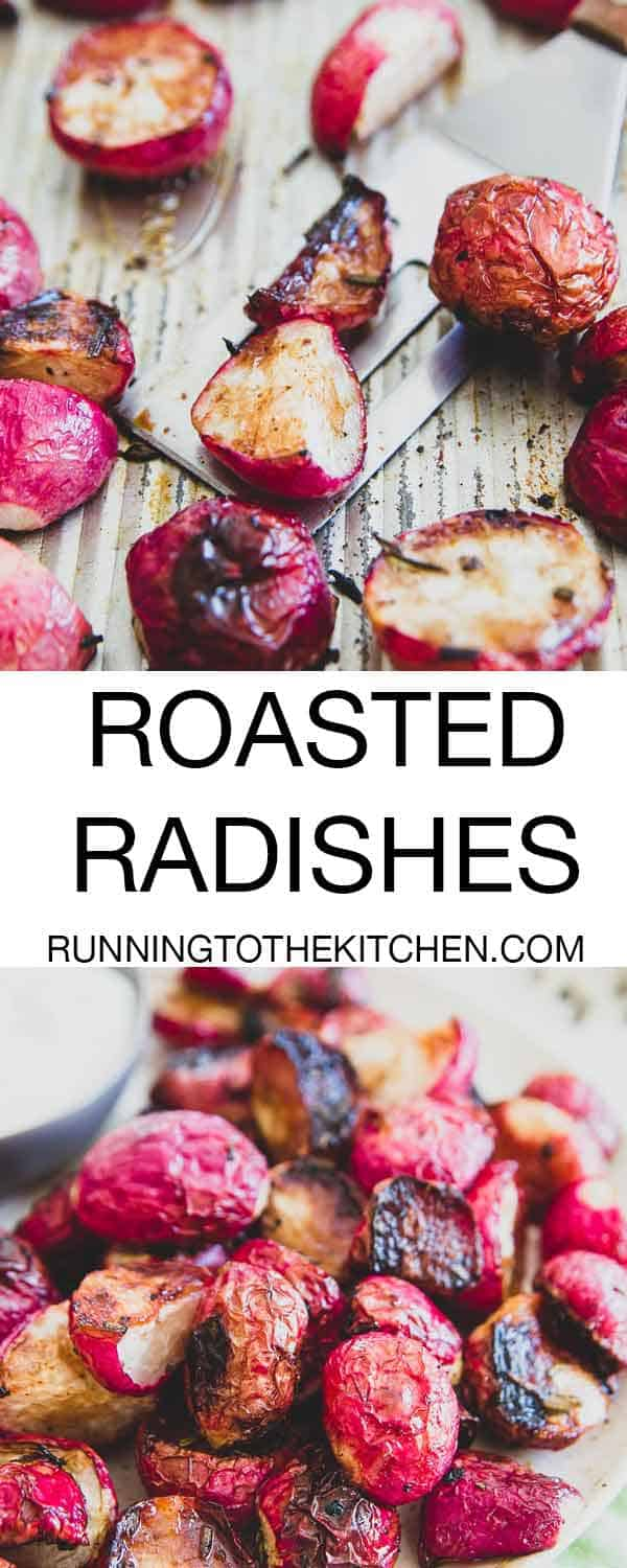 Looking for an easy and delicious spring side dish? Try oven roasted fresh radishes to crispy perfection with rosemary and honey. The flavor is completely transformed in the oven!