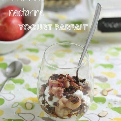 Roasted nectarine parfait